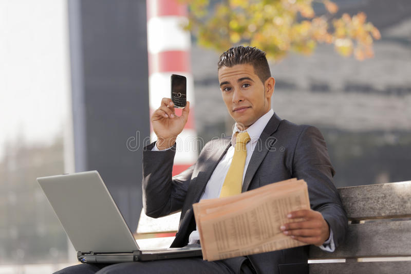Download Businessman Outdoor stock image. Image of connection - 32389827