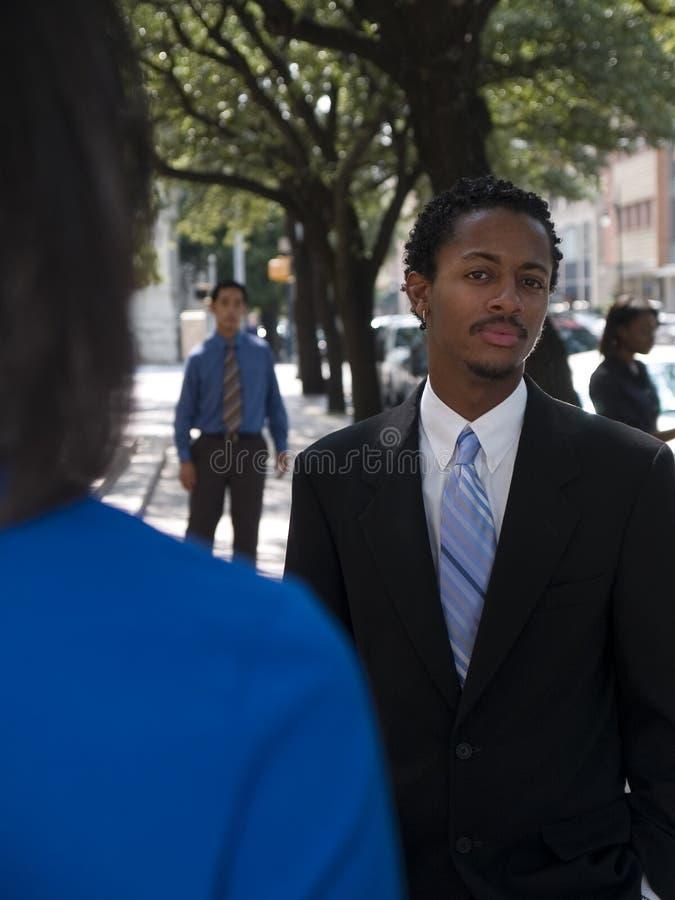 Businessman outside 1 royalty free stock photo