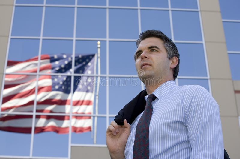 Businessman outside 2 royalty free stock photography