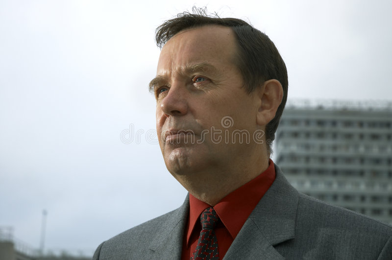 Businessman outside royalty free stock photography