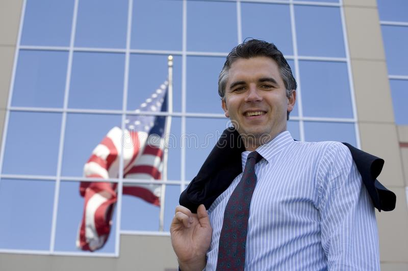 Businessman outside 3 royalty free stock images