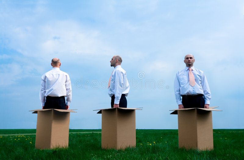 Download Businessman Outside The Box Stock Image - Image: 2383901