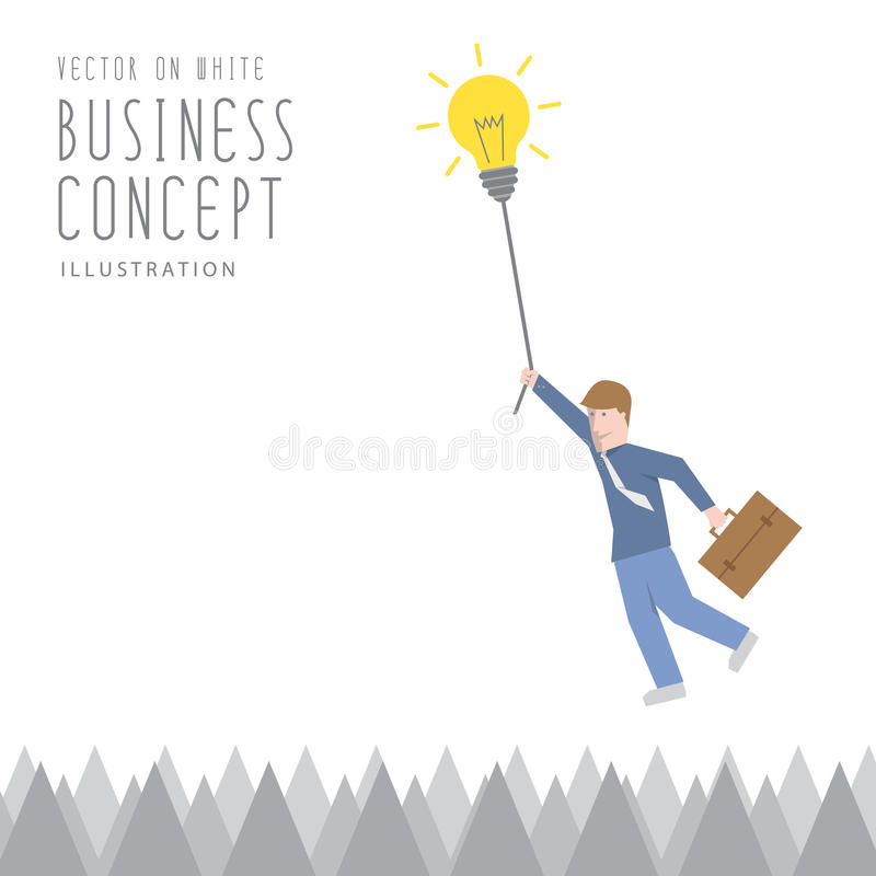 Free Businessman Overcome The Obstacles Of Sharp Barbs By Adhesion By Stock Photos - 57867973