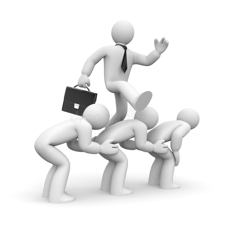 Download Businessman Overcomes Obstacles Stock Illustration - Illustration: 26390013