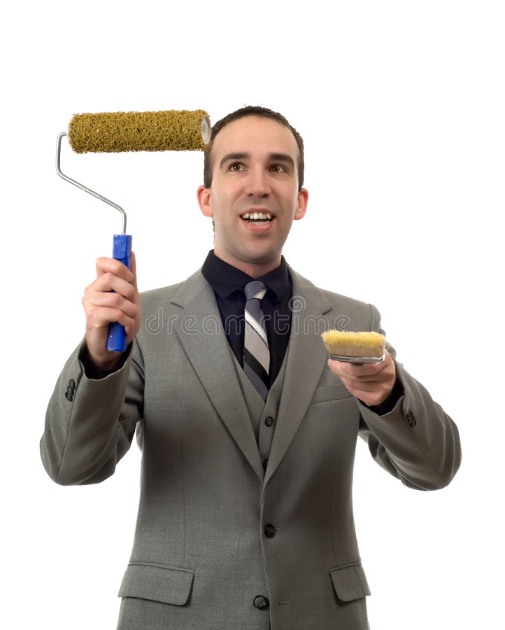 Businessman Painting Your Text royalty free stock photo