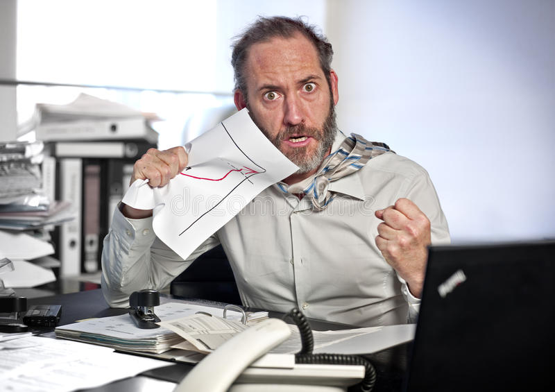 Download Businessman In Panic Royalty Free Stock Images - Image: 22231689