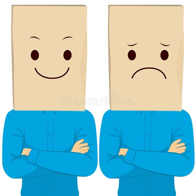 Businessman Paper Bag Face vector illustration