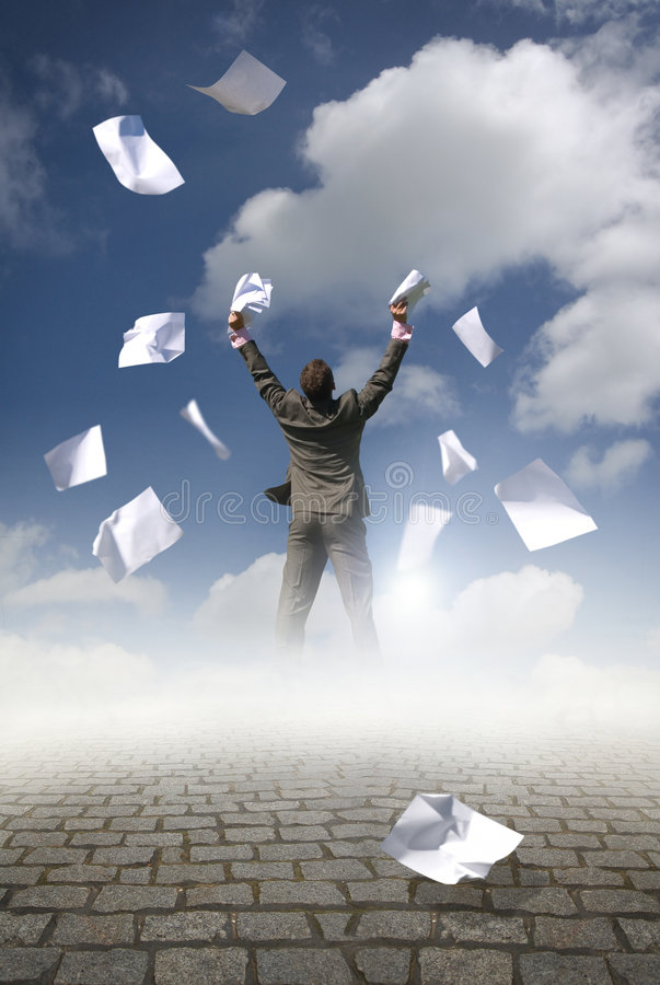 Download Businessman & Paperwork Royalty Free Stock Photo - Image: 5855225