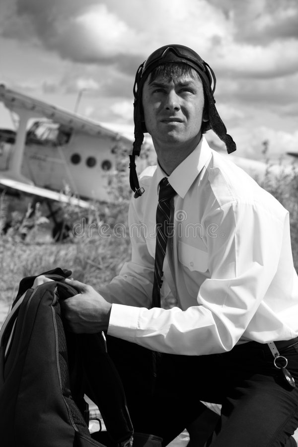 Businessman - A Paratrooper. Stock Photo
