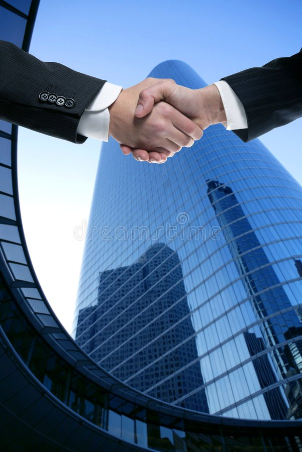Free Businessman Partners Shaking Hands With Suit Stock Photography - 8999522