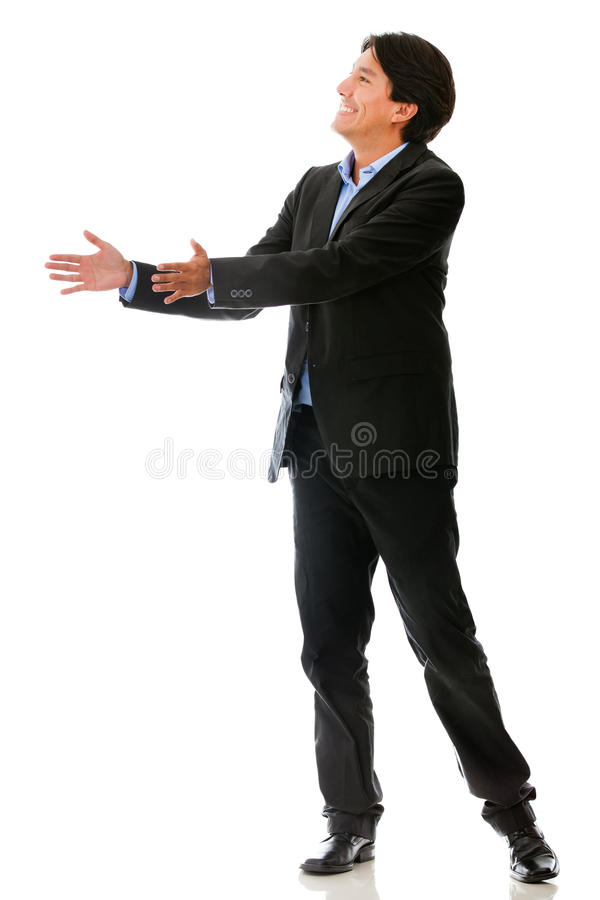 Download Businessman Passing An Object Stock Photo - Image: 24270876