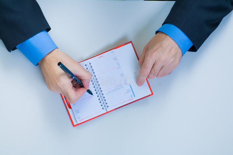 Download Businessman with the pen stock photo. Image of handwriting - 5045610