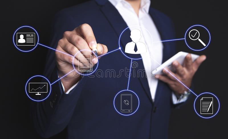 Businessman people scheme royalty free stock image