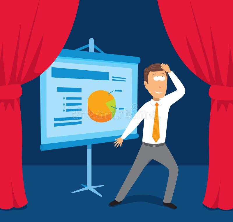 Download Businessman Performing Presentation Stock Vector - Image: 30417619