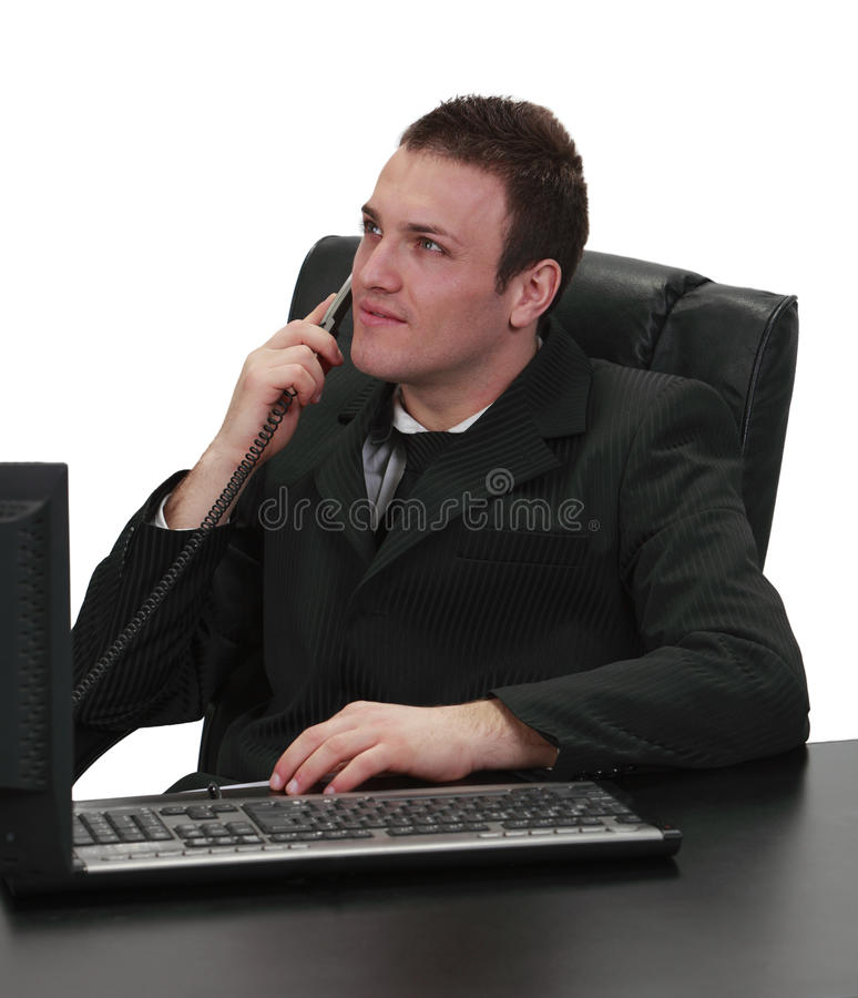 Download Businessman on the phone stock photo. Image of business - 13948972