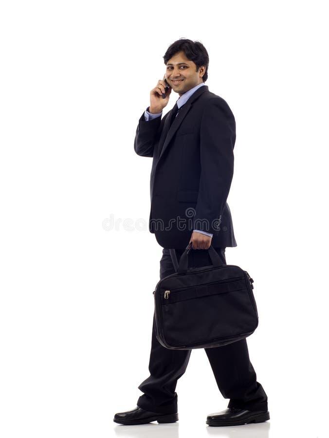 Businessman with Phone stock photos