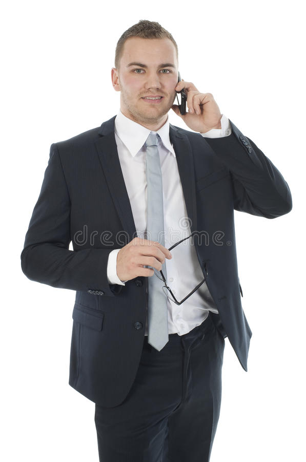 Download Businessman on the phone stock image. Image of brown - 24701097