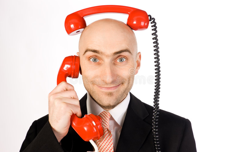 Download Businessman on the phone stock photo. Image of head, business - 4389240