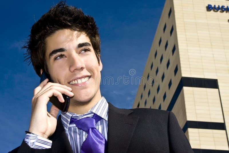 Businessman on phone royalty free stock photos