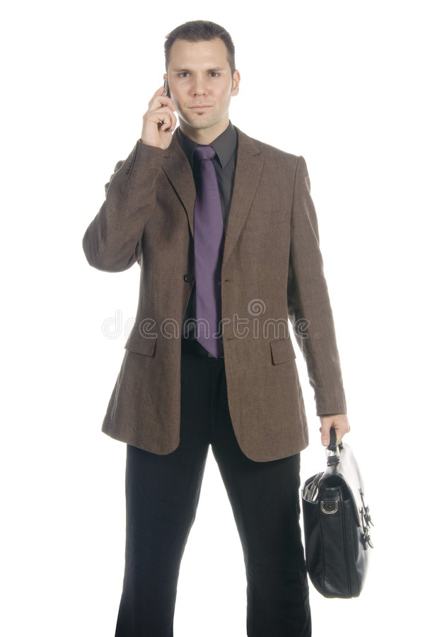 Download Businessman on the phone stock image. Image of corporate - 598475
