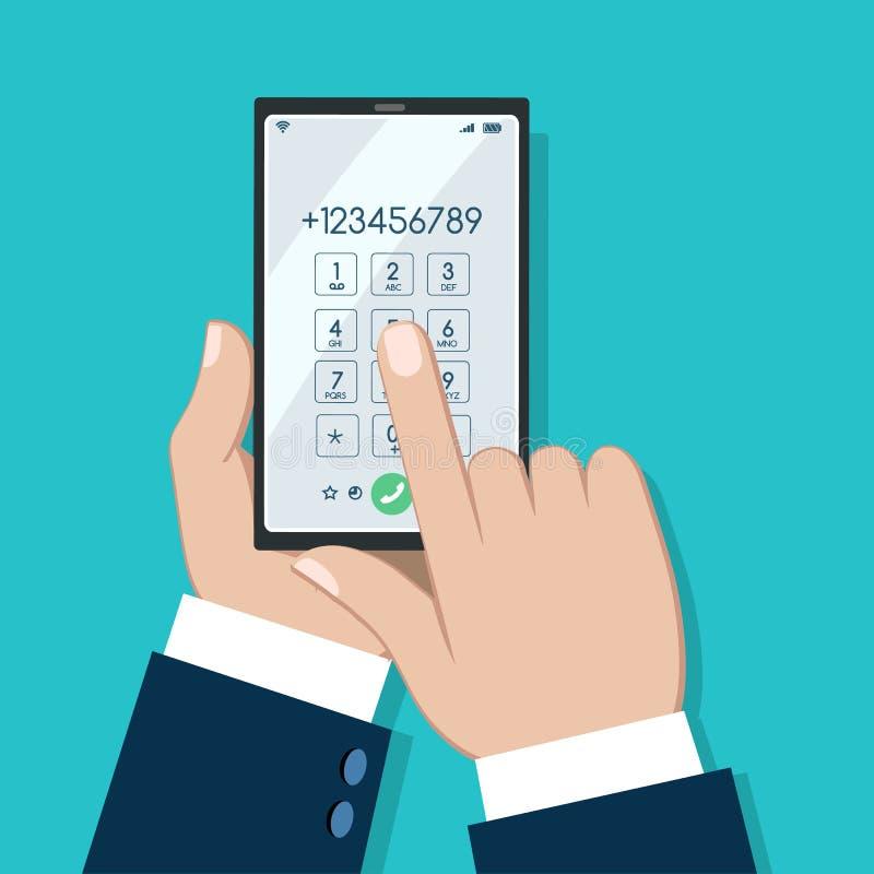Free Businessman Phone Dialing Screen Royalty Free Stock Image - 159191956