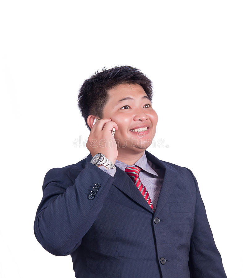 Businessman on the phone full stock photo