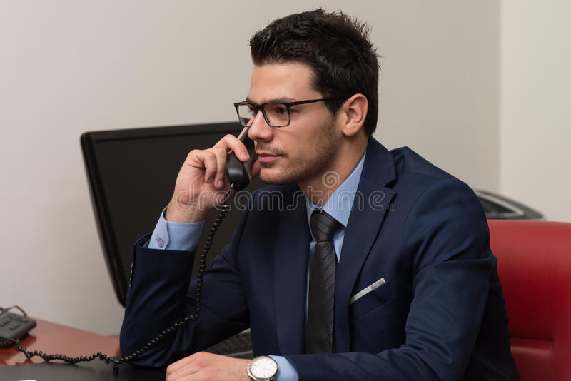 Download Businessman On The Phone stock photo. Image of occupation - 43253218