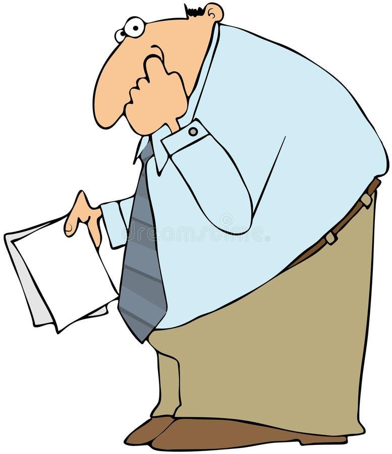 Download Businessman Picking His Nose Stock Illustration - Illustration: 24714179