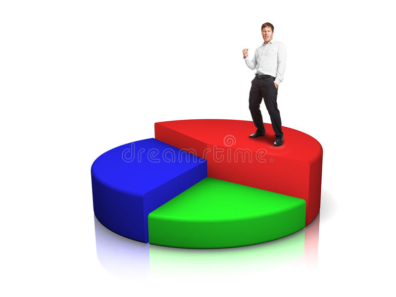 Download Businessman with pie chart stock illustration. Illustration of concept - 23417773
