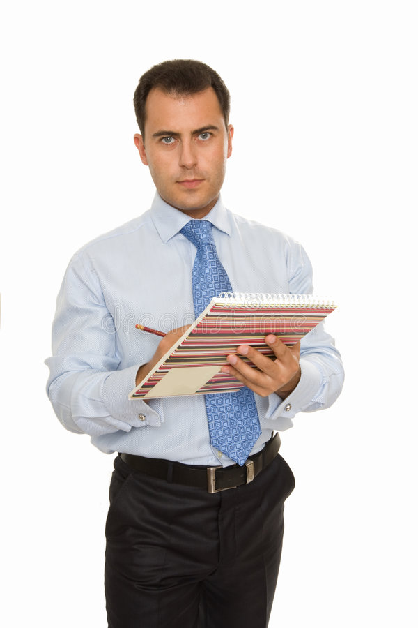 Businessman with Daily Planner royalty free stock image