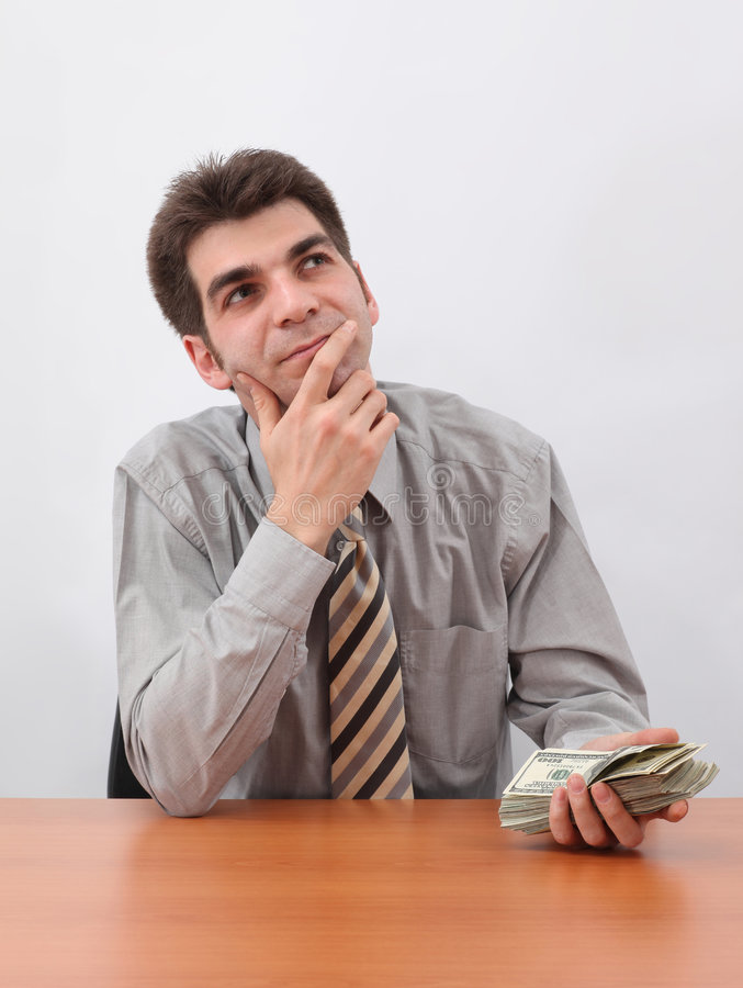 Businessman Planning a Investment royalty free stock photo