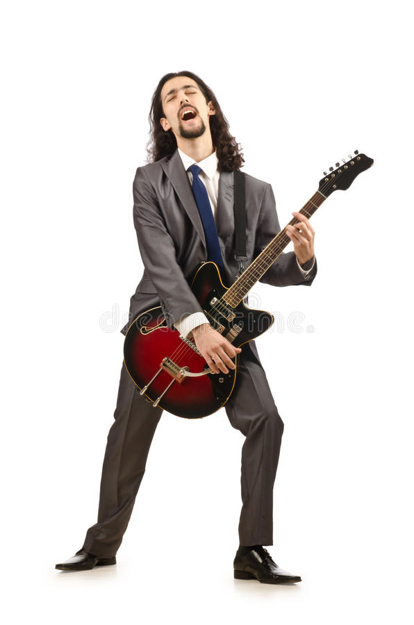 Download Businessman Playing The Guitar Stock Photo - Image: 25734228