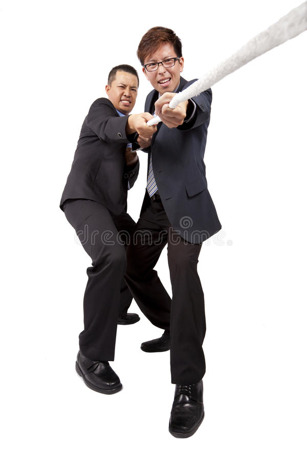 Free Businessman Playing Tug Of War Royalty Free Stock Images - 17504609