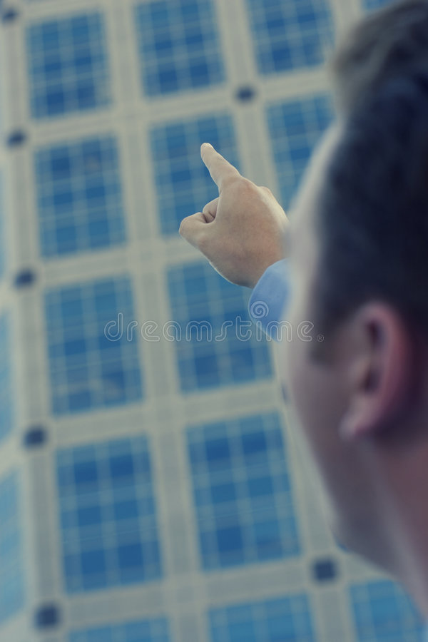 Download Businessman Pointing stock image. Image of global, gesturing - 1474861