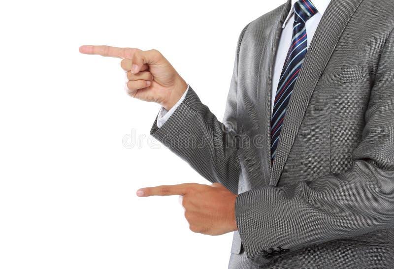 Businessman pointing stock image