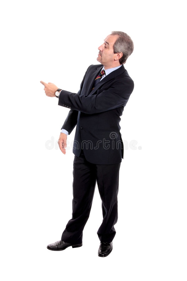 businessman pointing στοκ εικόνες