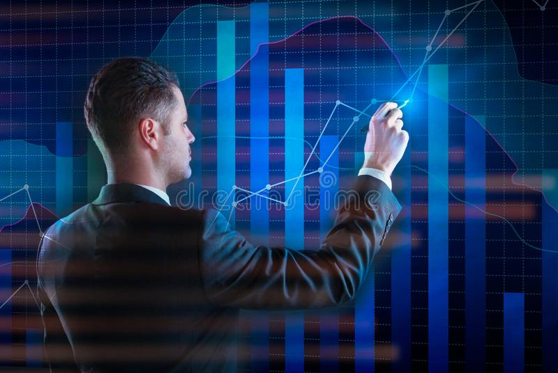 Finance, future and economy concept stock photos