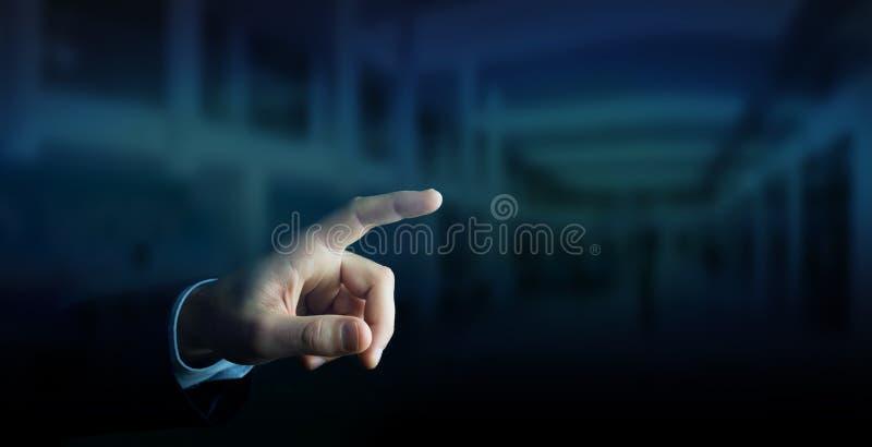 Businessman pointing finger vector illustration