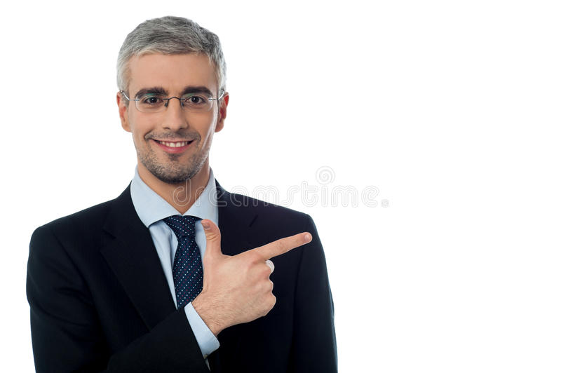 Download Businessman Pointing At Something Stock Photo - Image of employer, contemporary: 38710704