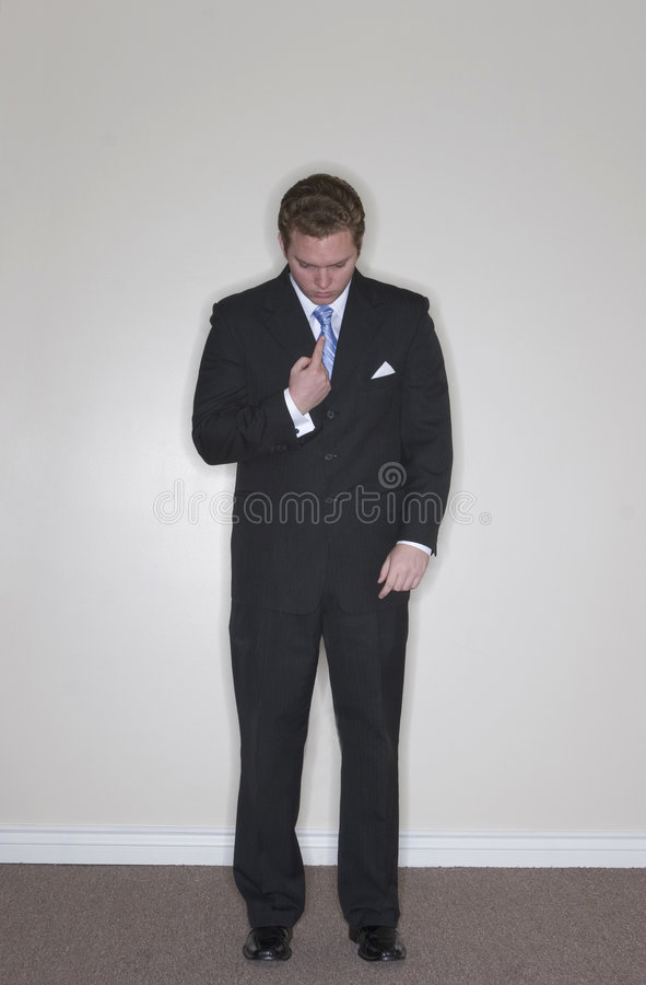 Businessman points at himself royalty free stock photo