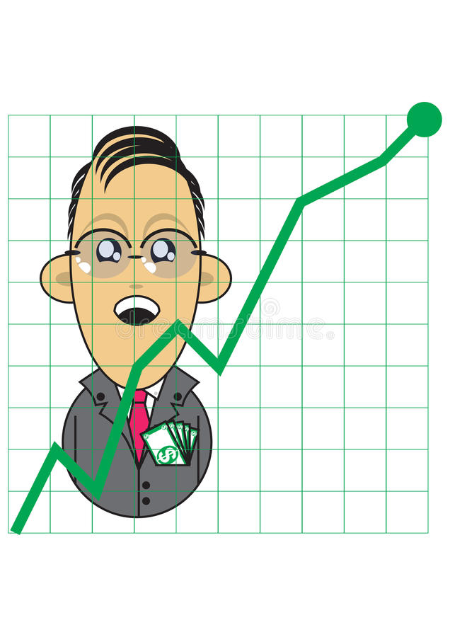 Download Businessman With Positive Growth Chart Royalty Free Stock Photo - Image: 16290535