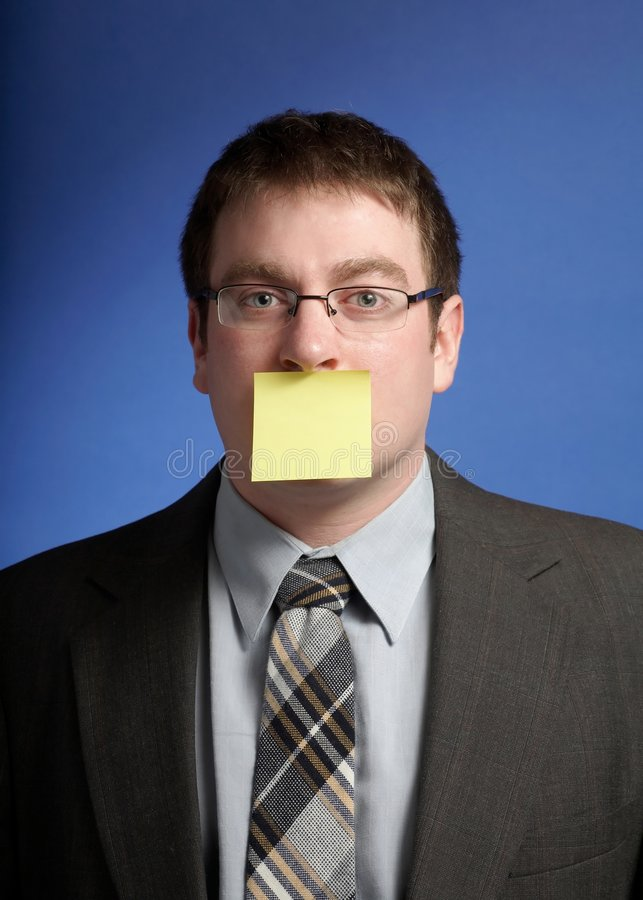 Businessman With Post-it Stock Photos