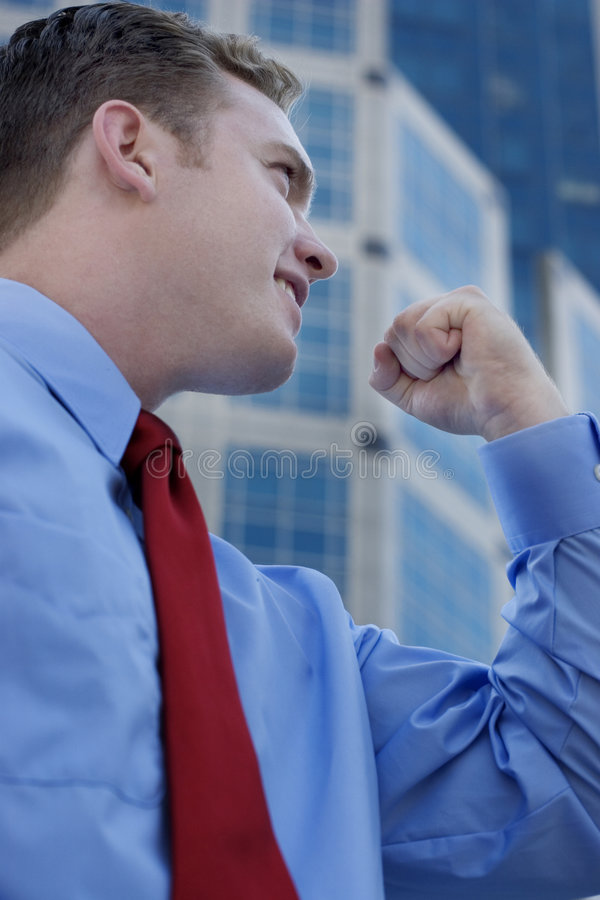 Businessman Power stock image