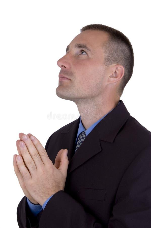 Download Businessman pray stock image. Image of blue, contemplative - 1402653