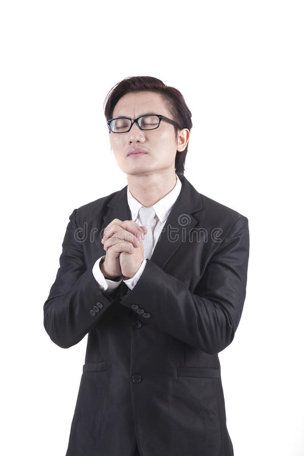 Download Businessman Praying stock photo. Image of portrait, isolated - 21866614