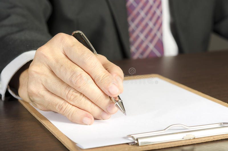 Download Businessman stock image. Image of letter, person, agreement - 34448901