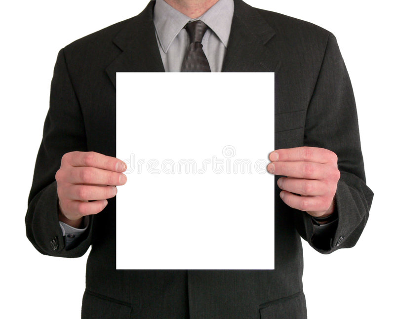 Businessman Presentation (Blank) stock photos