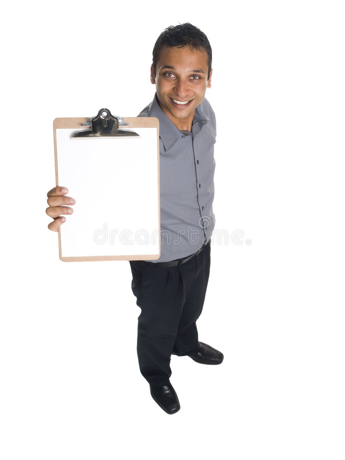 Businessman - presenting clipboard stock images