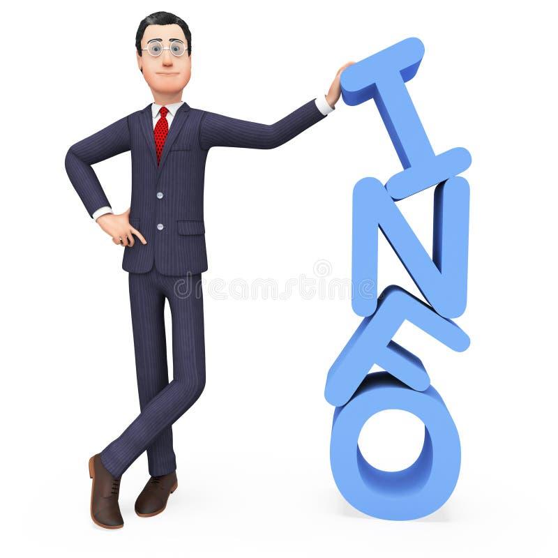 Businessman Presenting Info Represents Advisor Biz y Company ilustración del vector