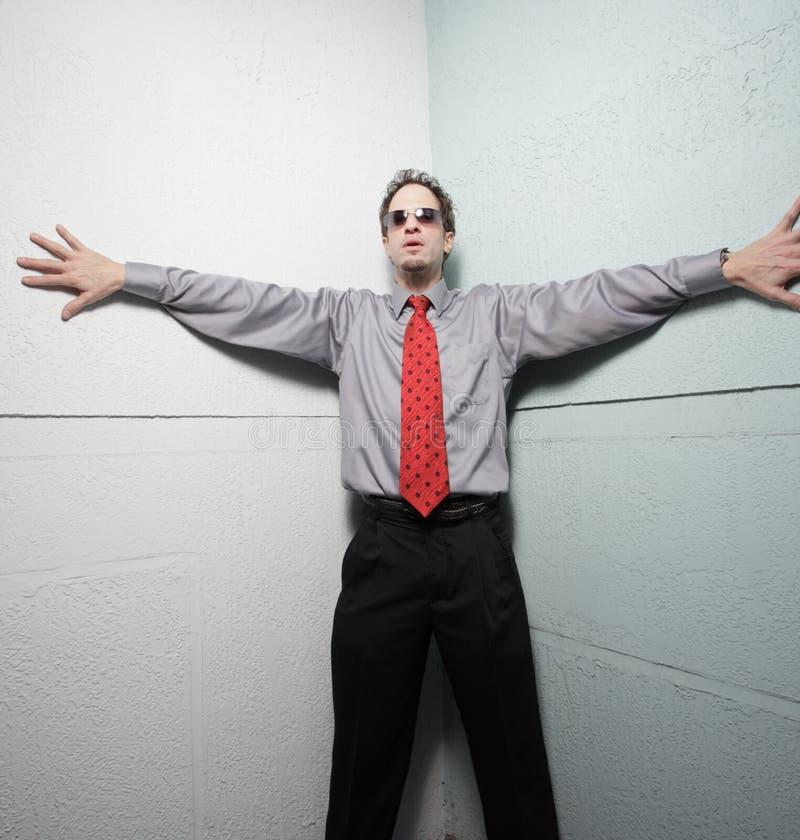 Businessman pressed royalty free stock image